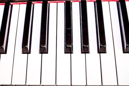 keyboard: closeup of a classic piano keyboard
