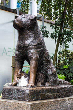 Bronze Statue Of The Dog Hachiko In Tokyo A Symbol Of Loyalty Stock