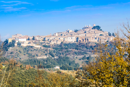 etrurian: Panoramic view of Amelia, old town in Umbria. Italy.