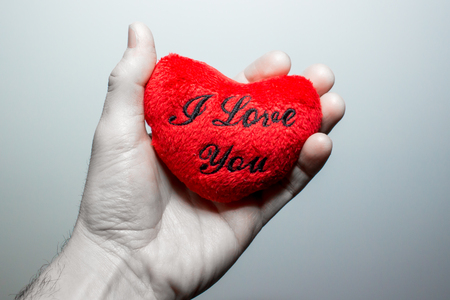 truelove: a hand holding a  red heart that says I Love You