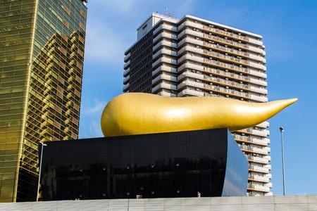 flamme: TOKYO, JAPAN - OCTOBER 09, 2015: The Asahi Flame at Asahi Beer Hall in Sumida. Tokyo, Japan