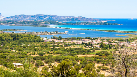 cinta: seascape of the Oriental coast of Sardinia, near San Teodoro, Italy Stock Photo