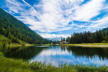 The lake Nambino in the Alps near Madonna di Campiglio, Trentino, Italy Stock Photo
