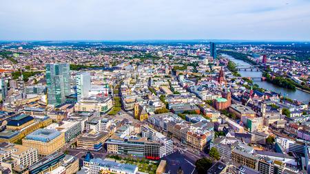 main: Aerial view of Frankfurt am Main, Germany