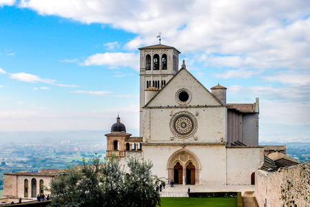 Basilica of Saint Francis of Assisi, in Assisi, little town in Italy