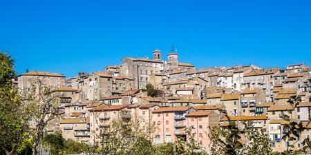 Cityscape of Caprarola, a town in the province of Viterbo, in the Lazio region of central Italy. Stock Photo