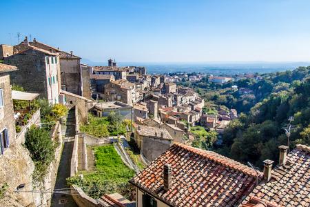 lazio: Cityscape of Caprarola, a town in the province of Viterbo, in the Lazio region of central Italy. Stock Photo