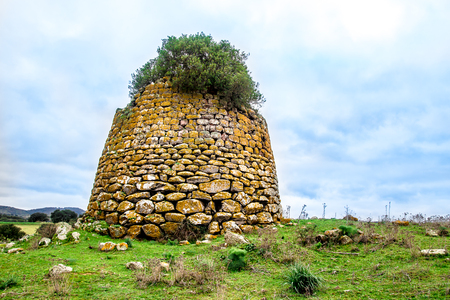 A nuraghe, the main type of ancient megalithic edifice  built between the middle of the Bronze Age in Sardinia, Italy