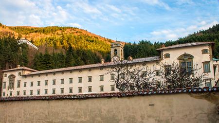 Vallombrosa, a Benedictine abbey in the comune of Reggello (Tuscany, Italy), 版權商用圖片 - 72754620