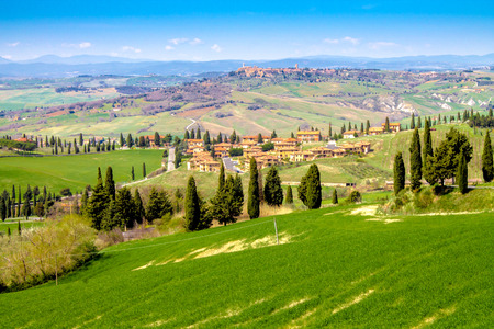 Tuscan landscape, the green countryside in the province of Siena, Italy
