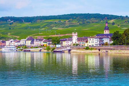 Rudesheim am Rhein, famous town for wine making in the Rhine Gorge, Germany
