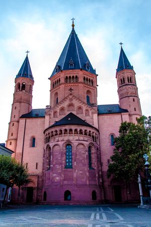 view of the St. Martins Cathedral in Mainz, Germany