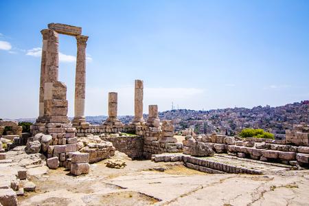 The Temple of Hercules in Amman Citadel, Jordan