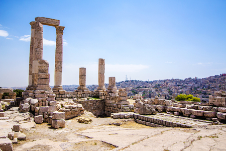 The Temple of Hercules in Amman Citadel, Jordan