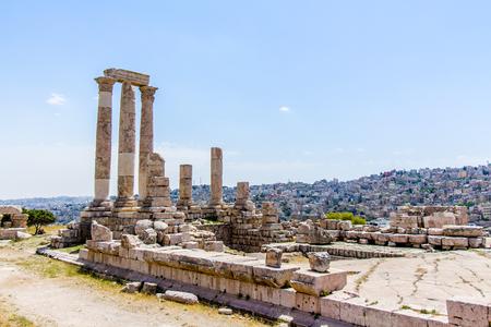 Le temple d'Hercule à Amman Citadelle, Jordanie Banque d'images - 80506629