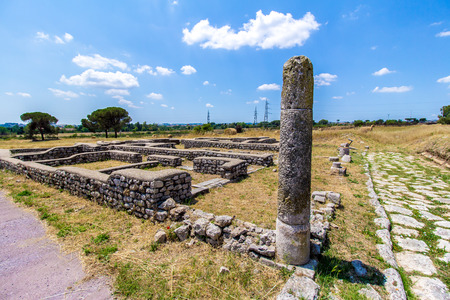 Lucus Feroniae: was an ancient sacred grove  dedicated to the Sabine goddess Feronia. It was located in Etruria, across the ancient Via Tiberina. Now is in Capena near Rome, Italy