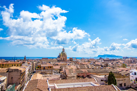 Cityscape of Palermo, the capital of Sicily, in Italy