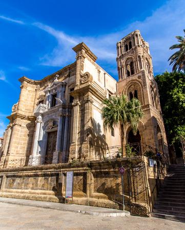The church of Santa Maria dellAmmiraglio, commonly called the Martorana, in Palermo, Italy