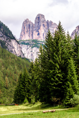 Beautiful view of the three peaks of Lavaredo, Italy Фото со стока