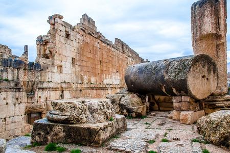 Roman city ruins of the ancient Baalbek in Lebanon