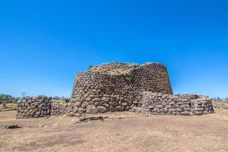 The nuraghe Losa, ancient megalithic edifice found in Sardinia. Italy