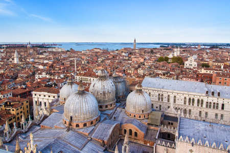 Aerial view of Venice, famous city in Italy