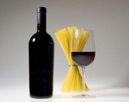 wine & pasta photo