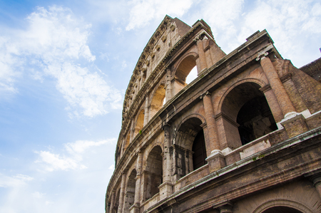 View of Colosseum in Rome, Italy, Europe.