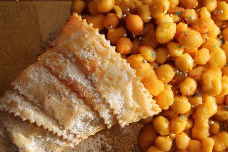 neapolitan: Neapolitan struffolis Stock Photo