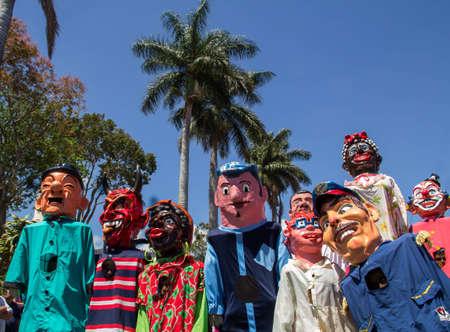 Typical masquerade parade in Costa Rica