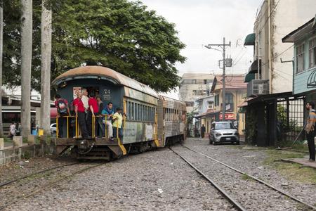 Urban train in San Jose Costa Rica