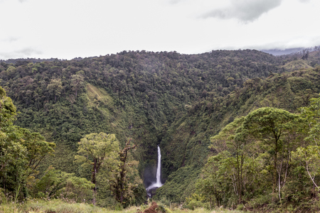 The Angel Waterfall close to the turistic road, Alajuela, Vara Blanca, Costa Rica Stok Fotoğraf
