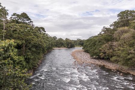 Sarapiqui river touristic attraction in the atlantic zone of Costa Rica 스톡 콘텐츠