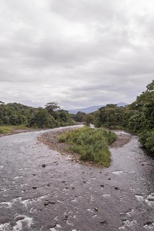 Sarapiqui river touristic attraction in the atlantic zone of Costa Rica Stok Fotoğraf