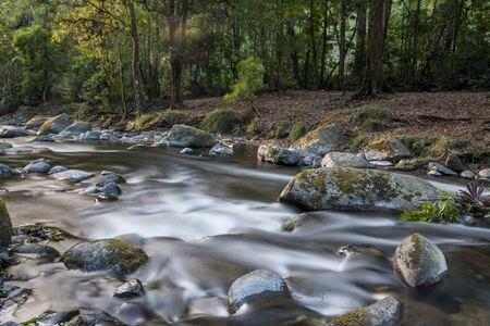 Savegre River, San Gerardo de Dota. Quetzales National Park, Costa Rica. The cleanest river in Central America. Stok Fotoğraf