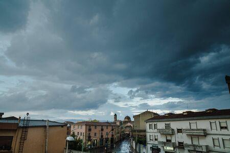 A summer thunderstom shoot in Selargius, Italy Stock fotó