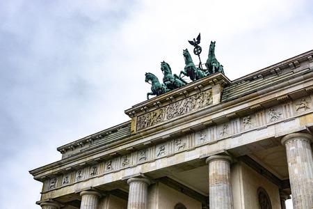 Berlin Brandenburg Gate (Brandenburger Tor) in a rainy day, Berlin, Germany