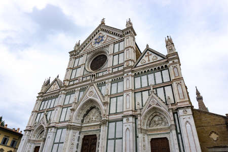 The Basilica di Santa Croce is one of the most important cathedral in Florence, Italy Stockfoto