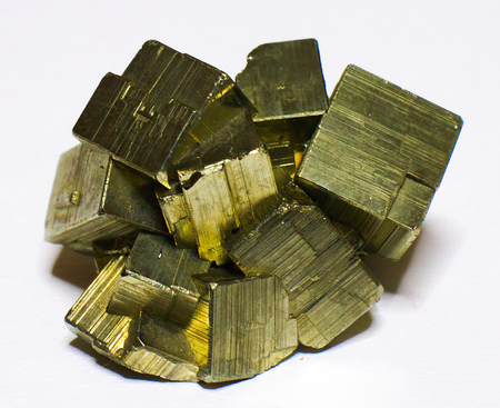 Pyrite mineral stone, fools gold Stock Photo