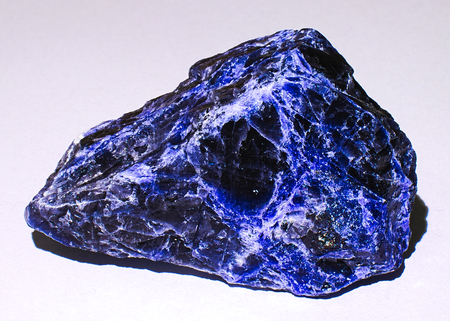 Sodalite blue black veined mineral stone