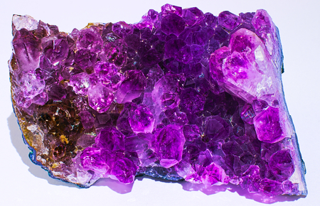 Amethyst crystals mineral stone gems magenta