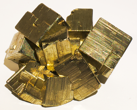 Pyrite mineral stone gem golden yellow