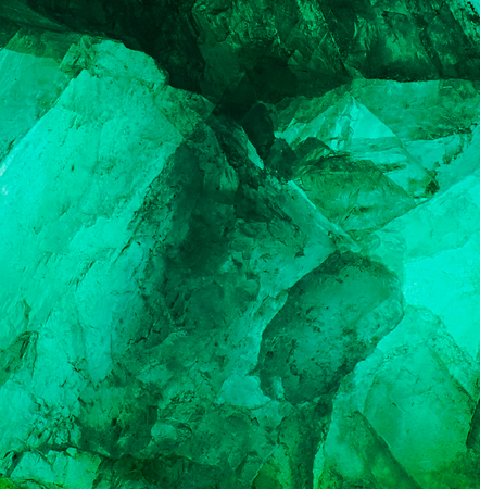 Fluorite mineral stone gem crystal green detail Stock Photo