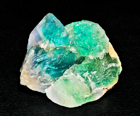 green blue transparent fluorite mineral stone gem crystal