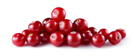 Cranberry isolated. Cranberry on white. Cranberry. Full depth of field.