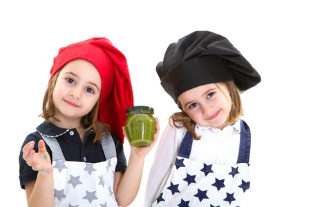 cook and chef withe pesto from genoa Stock Photo - 12759116