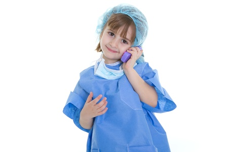 a doctor call for an urgency on telephone Stock Photo - 12759109