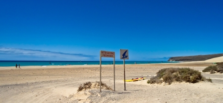 Sotaventos, beach in Fuerteventura, Spain Stock Photo