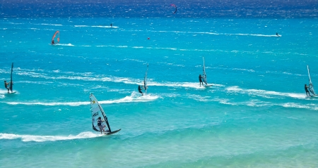 Windsurf championship 2010 in Fuerteventura, Spain