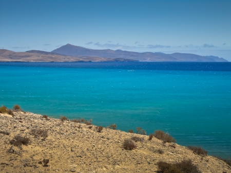 Landscape in the south of Fuerteventura, Spain photo